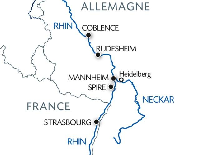 Allemagne - Croisière La Vallée du Rhin Romantique
