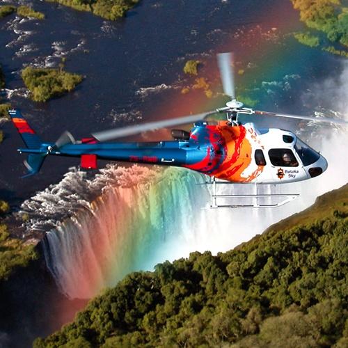 Survol en hélicoptère des chutes Victoria