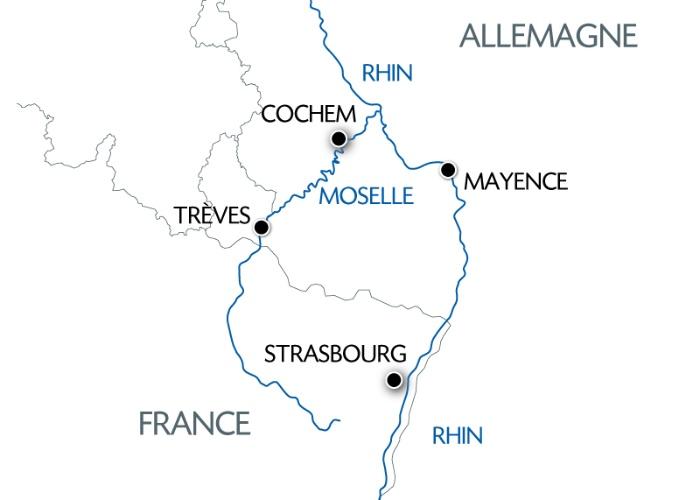 France - Alsace Lorraine Grand Est - Rhin en croisière - Allemagne - Croisière 2 Fleuves, le Romantisme de la Moselle et du Rhin