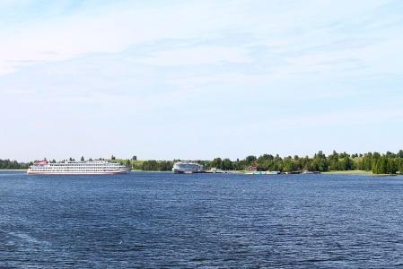 Navigation sur la Volga en Russie