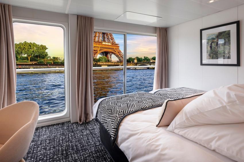 Cabine avec deux lits séparés du MS Renoir