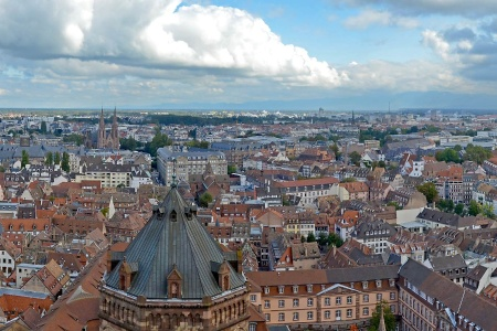 View of Strasbourg from the rig of the cathedral of Our Lady