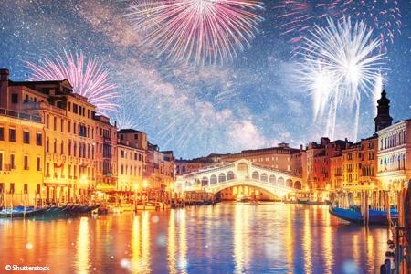 Año Nuevo en Venecia y su laguna