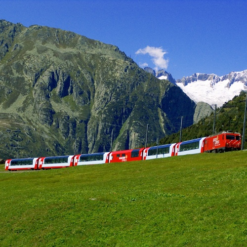Voyage à bord du Glacier Express