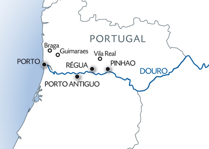 vallée du douro portugal carte Croisière fluviale Porto et la Vallée du Douro | CroisiEurope
