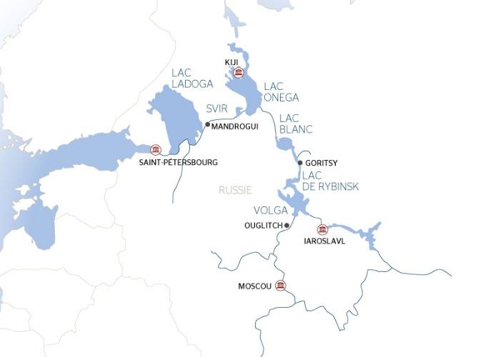 Carte Amerique Latine Avec Fleuves.Au Fil Des Fleuves De Russie De Saint Petersbourg A Moscou
