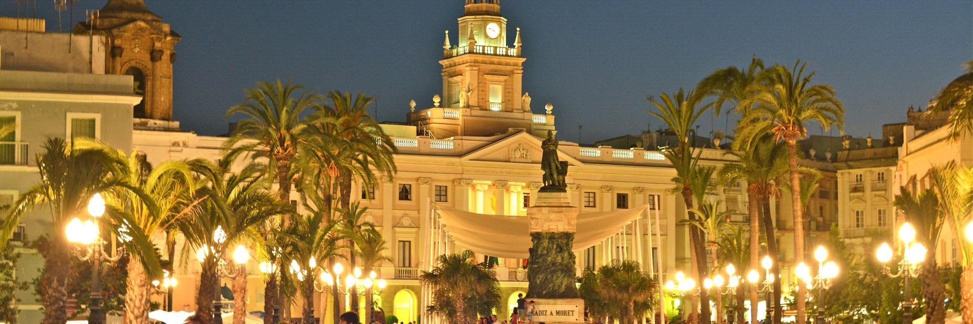Nuit à Cadix en Espagne