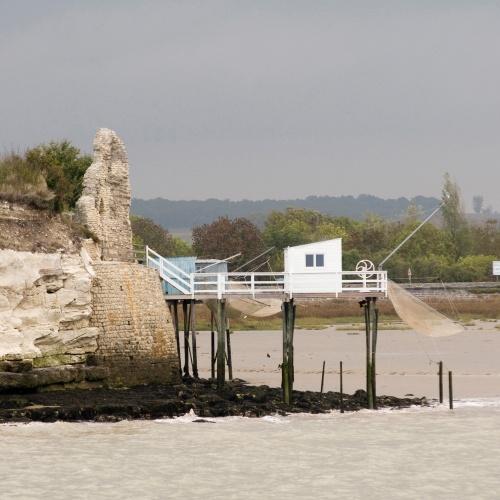 Carrelet dans l'estuaire de la Gironde
