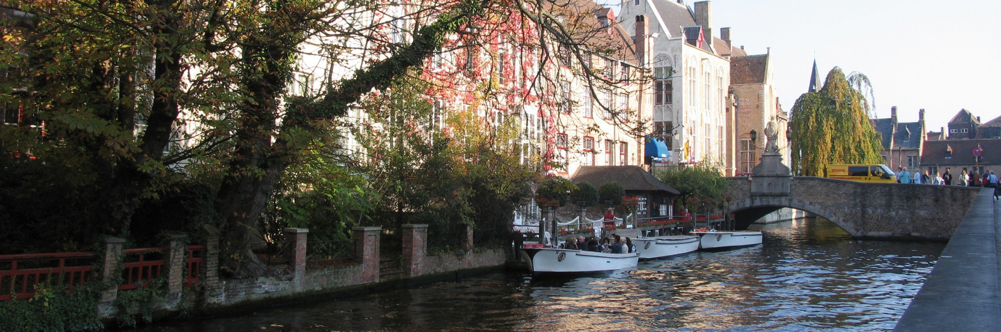Canal à Bruges en Belgique
