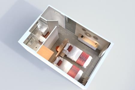 Plan 3D d'une cabine du MS Amalia Rodrigues