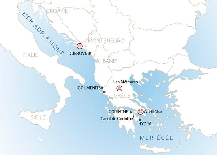 Carte Italie Grece Croatie.Croisieres Croatie Pas Cher Lidl Voyages