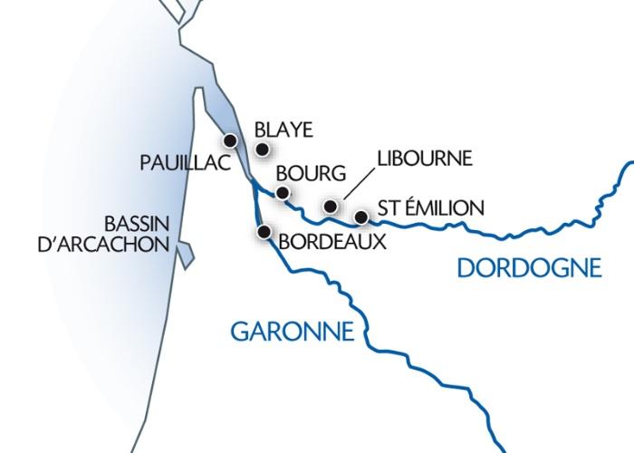 Photo n° 2 Le Sud-Ouest, entre estuaire de la Gironde, Garonne et Dordogne (formule port/port)