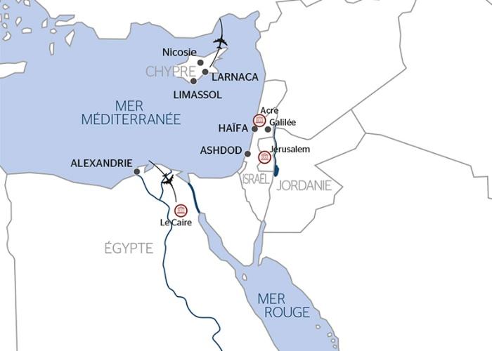 Chypre - Egypte - Alexandrie - Le Caire - Israël - Croisière des Pyramides d'Egypte aux Trésors de la Méditerranée en passant par la Terre Sainte