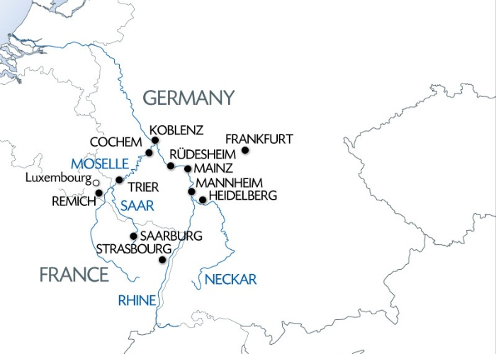 5 Different Rivers The Rhine Neckar Main Moselle And Sarre Port To Port Cruise