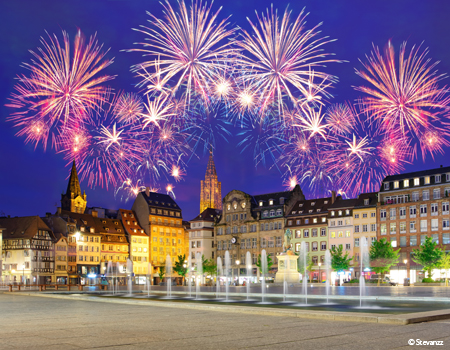New year in Holland and the romantic Rhine