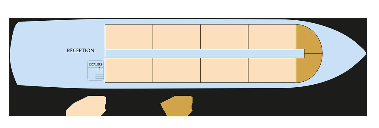 Plan du pont principal du Zafiro