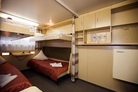 Cabine 4 lits sur le Chicherin