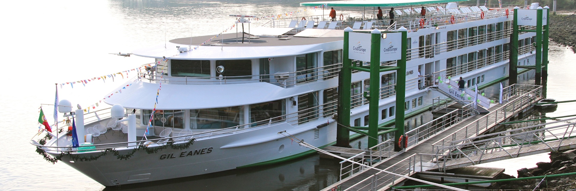 MS Gil Eanes docked.