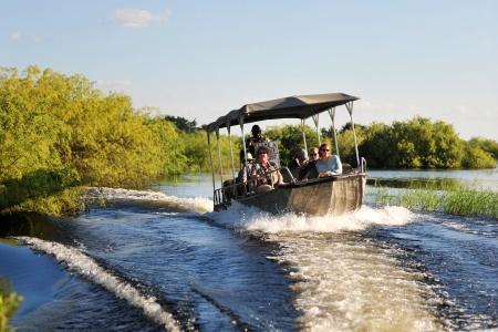 Rivière de Chobe en Afrique
