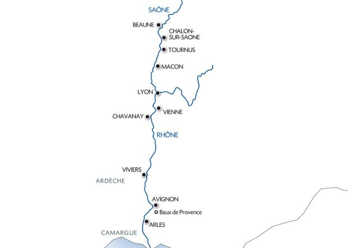 Croisière randonnée : Le Rhône et la Saône (formule port/port) - 8