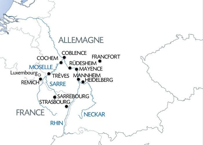 Croisière 5 fleuves : Rhin, Neckar, Main, Moselle et Sarre (formule port/port) - 10