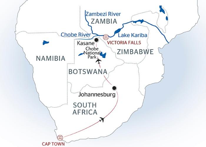 Southern Africa Cruise South Africa Botsawa Namibia