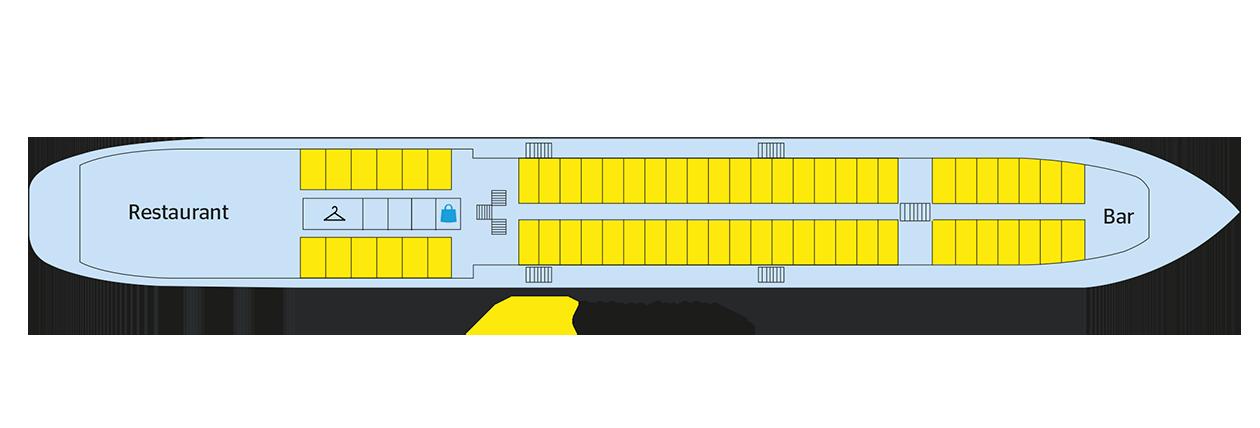 Plan du pont supérieur du Georgy Chicherin