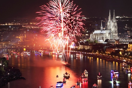 The Rhine in flames, an incredible spectacle on the water (port-to-port cruise)