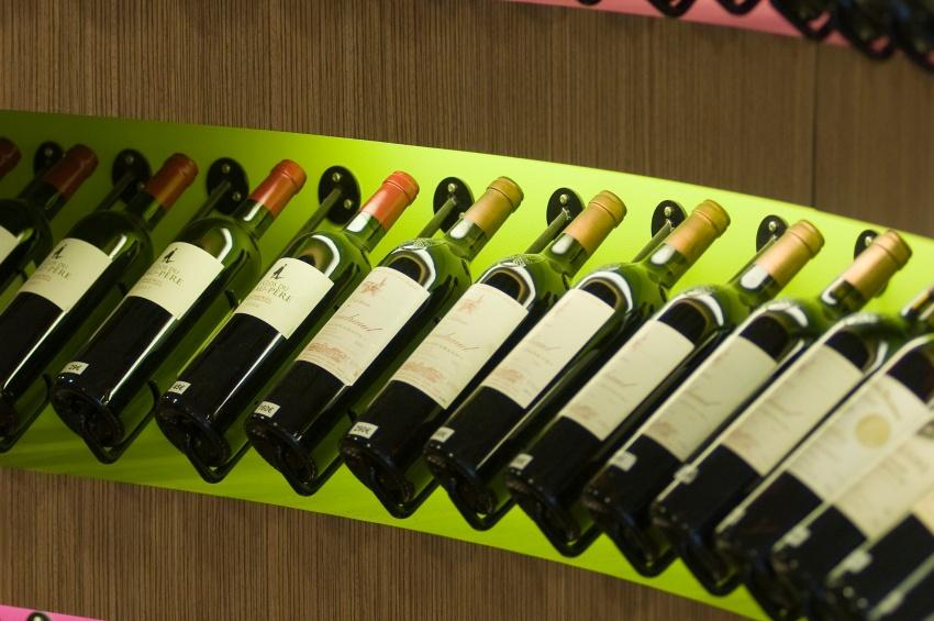 Bouteilles de vins à Bordeaux