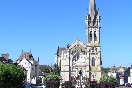 The church of Saint Etienne in Briare
