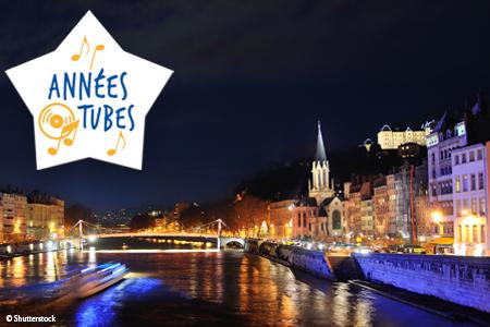 Croisière sur le Rhône : Les Années Tubes, au départ de Lyon
