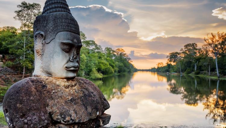 Entrée des temples d'Angkor