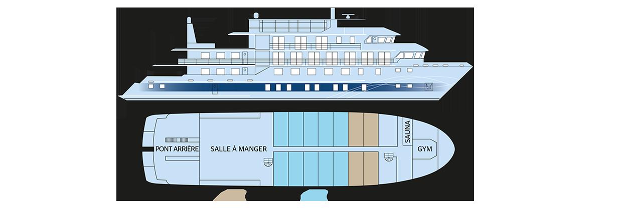 Plan du pont principal du Jacques Cartier