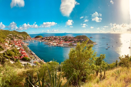 The Caribbean Guadeloupe, Martinique, the Grenadines, and Saint Barts