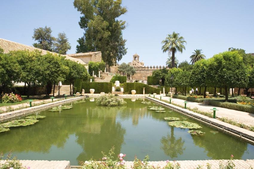 Jardin de Cordoue en Espagne