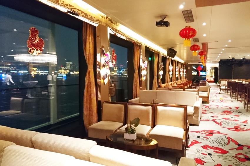 Grand salon bar du navire