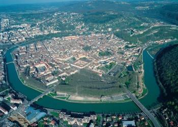 Besançon vue du ciel