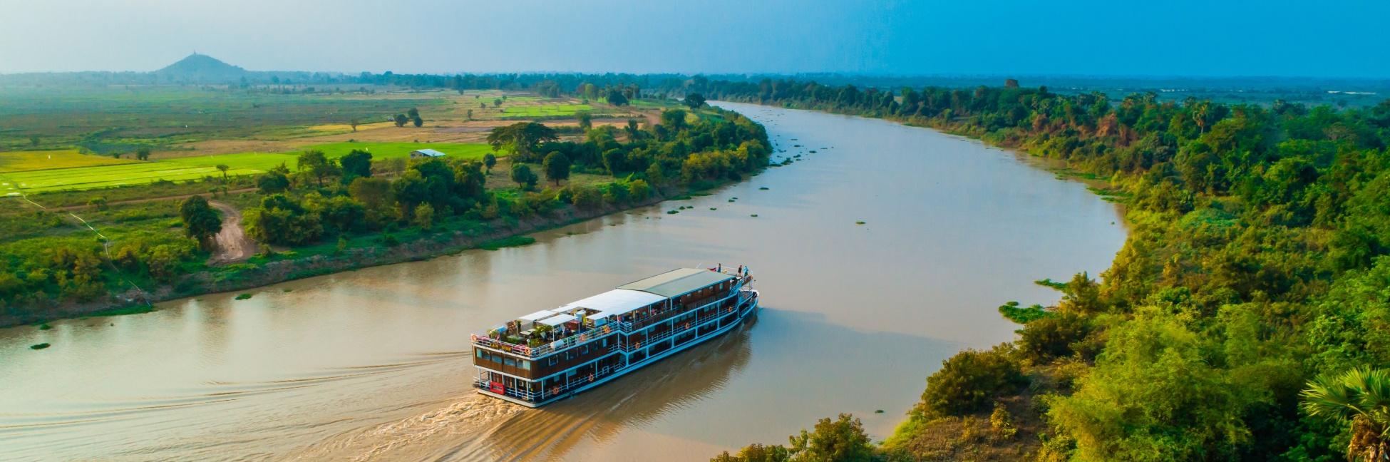 Le Lan Diep naviguant sur le Mékong
