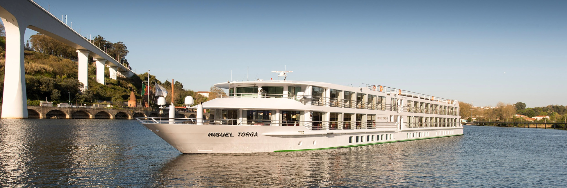 The MS Miguel Torga sailing on the Douro
