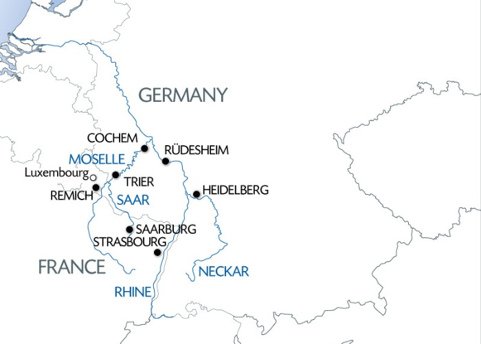 4 Rivers The Moselle Sarre Romantic Rhine And Neckar