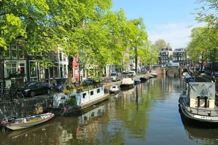 Canaux Amsterdam en Hollande