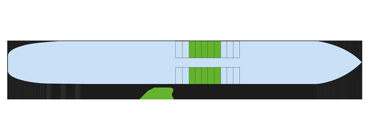 Plan du pont inférieur du Kronstadt