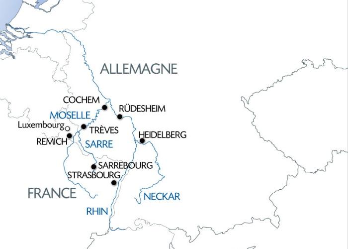 Croisière 4 fleuves : Les vallées du Neckar, du Rhin romantique, de la Moselle et de la Sarre (formule port/port) - 8
