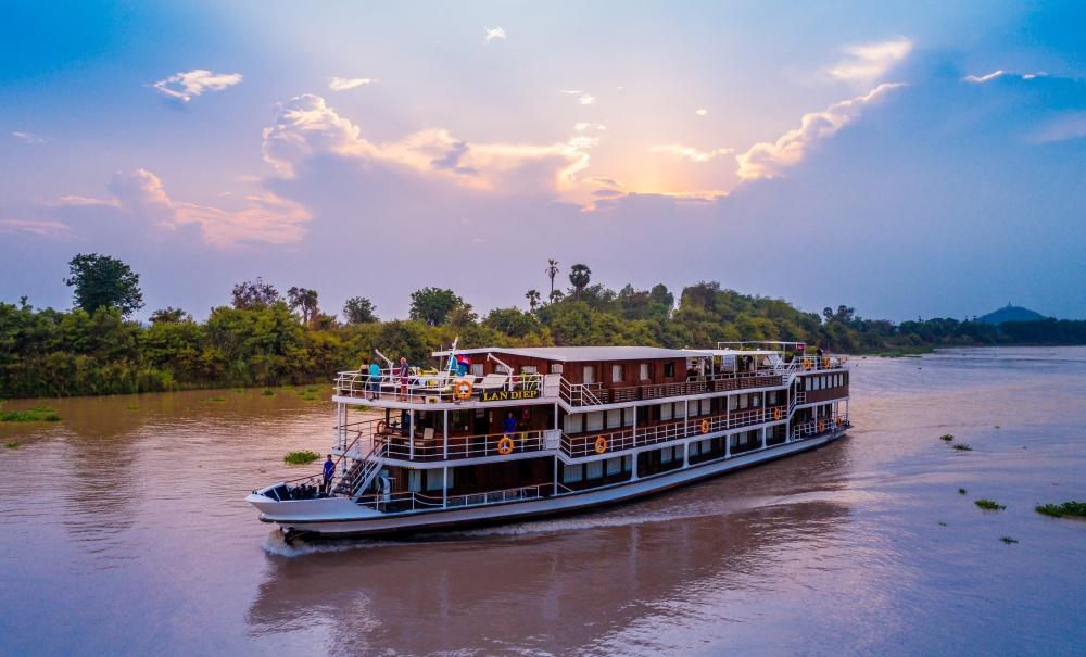 Le Lan Diep naviguant sur le Mekong