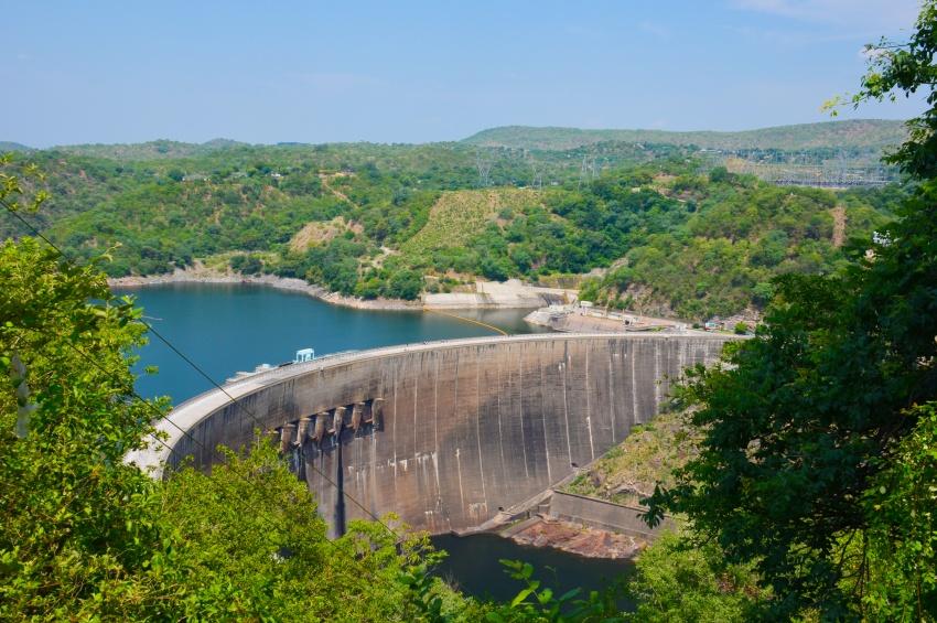 Barrage de kariba en Zambie