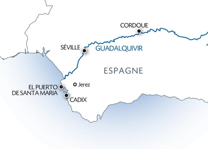 Andalousie Carte Didentite.Noel Andalou Le Guadalquivir Et La Baie De Cadix Formule Port Port