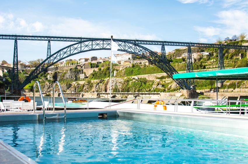 Swimming pool on the sun deck