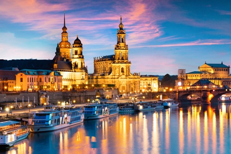 New Year's Eve on the Elbe from Dresden to Berlin (port-to-port cruise)