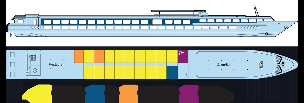 Plan du pont supérieur