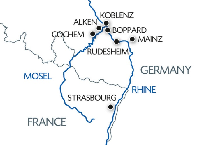 Mosel River Germany Map.The Rhine And Moselle Rivers Croisieurope Cruises